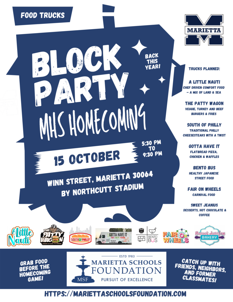 Welcome Back! MHS Homecoming Food Truck Block Party